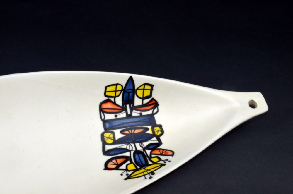 Ceramic Canoe Bowl By Roger Capron 24