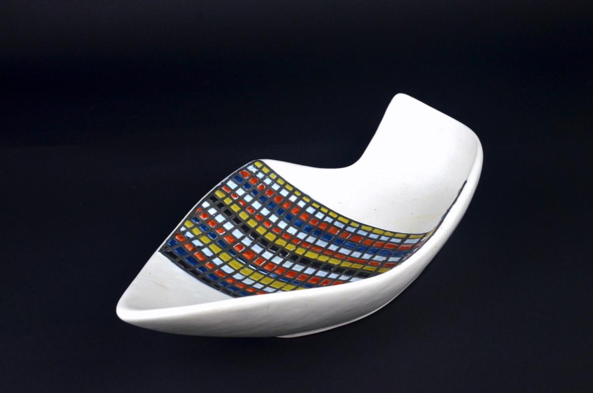 Ceramic Dish With Decor Pave By Roger Carpron 20