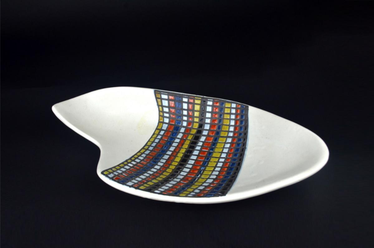 Ceramic Dish With Decor Pave By Roger Carpron 214