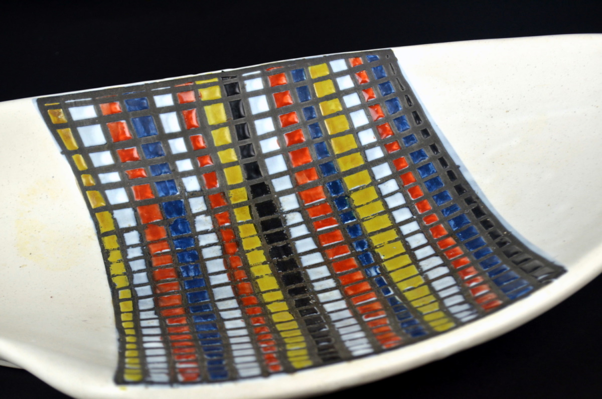 Ceramic Dish With Decor Pave By Roger Carpron 24