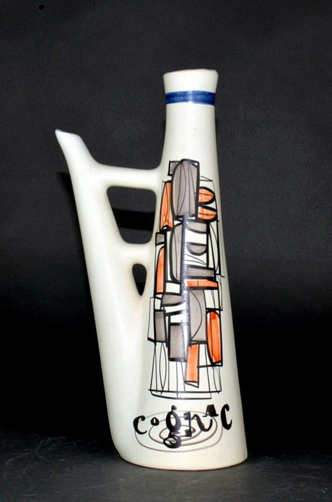 Ceramic Flask 'cognac' By Roger Capron 1