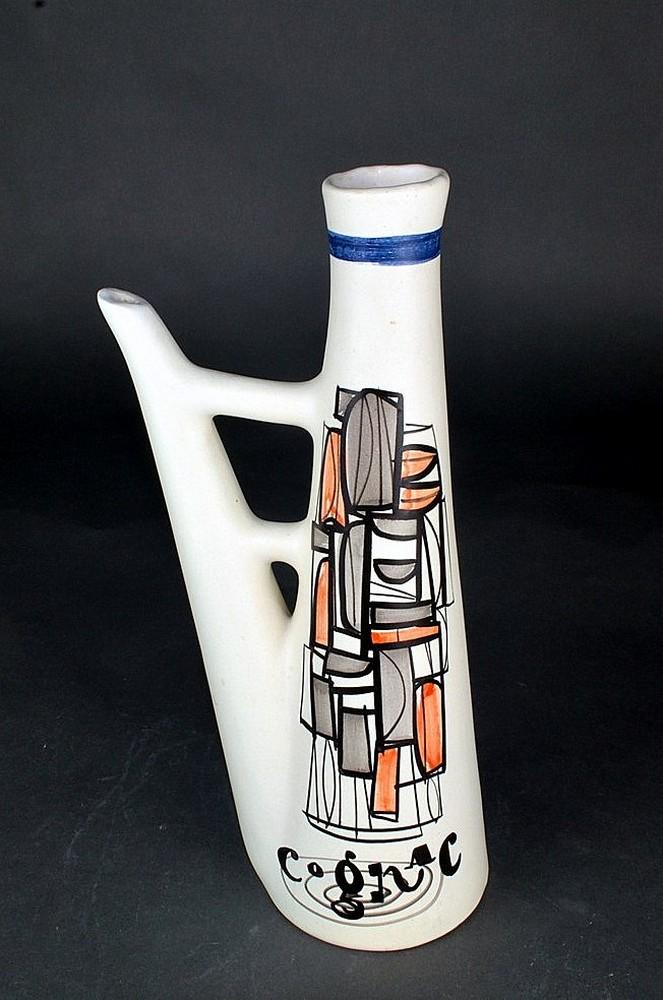 Ceramic Flask 'cognac' By Roger Capron 9