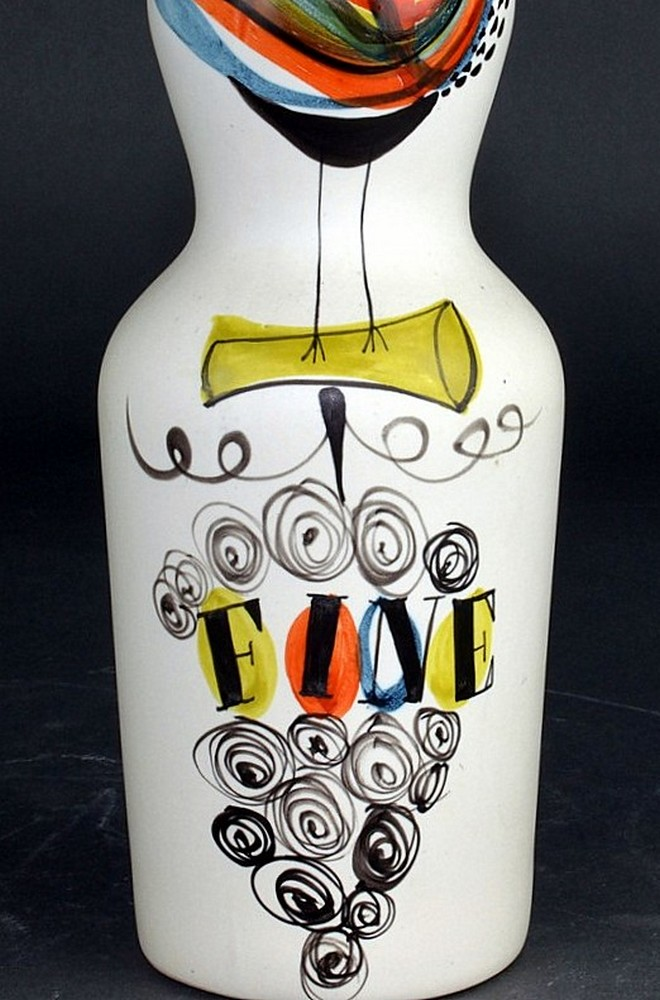 Ceramic Flask 'fine' By Roger Capron 3