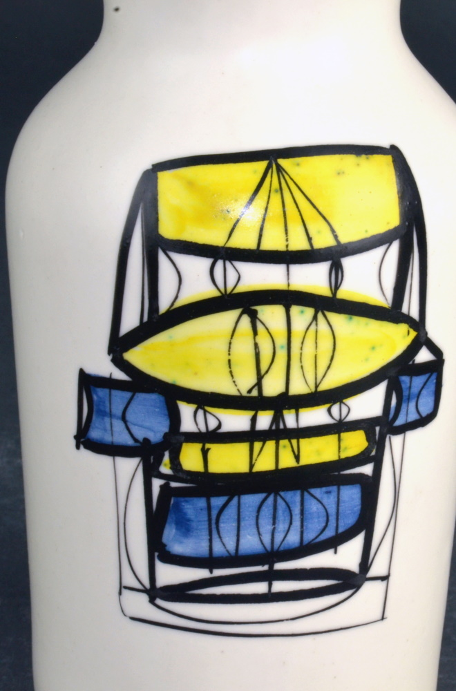 Ceramic Flask 'gin' By Roger Capron 23