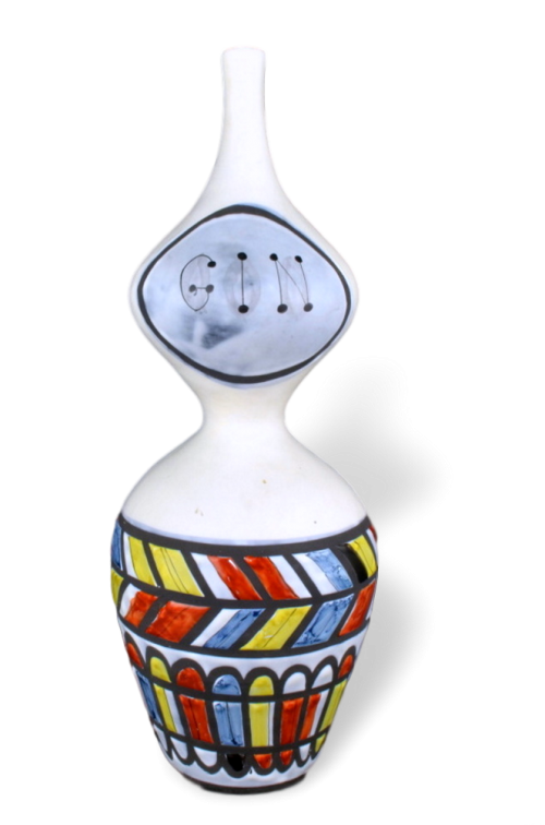 Ceramic Flask 'gin' By Roger Capron 27