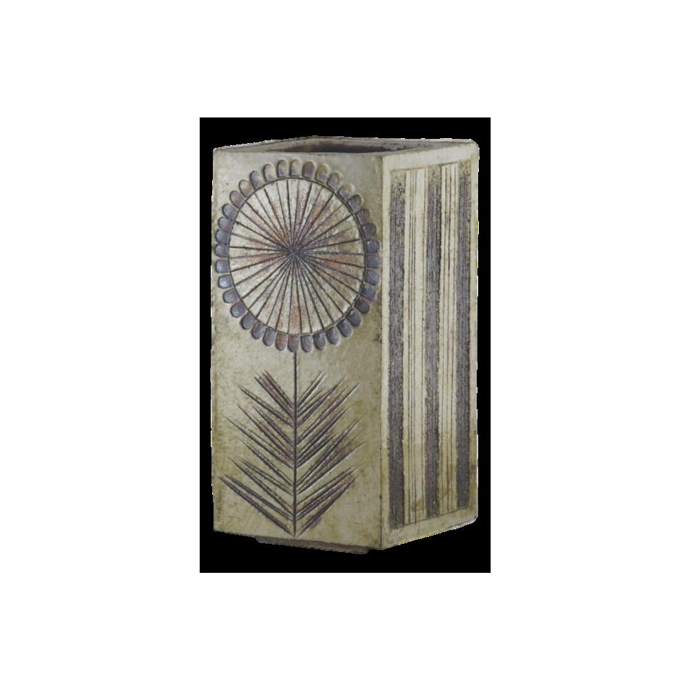 Ceramic Glazed Vase Bvy Roger Capron