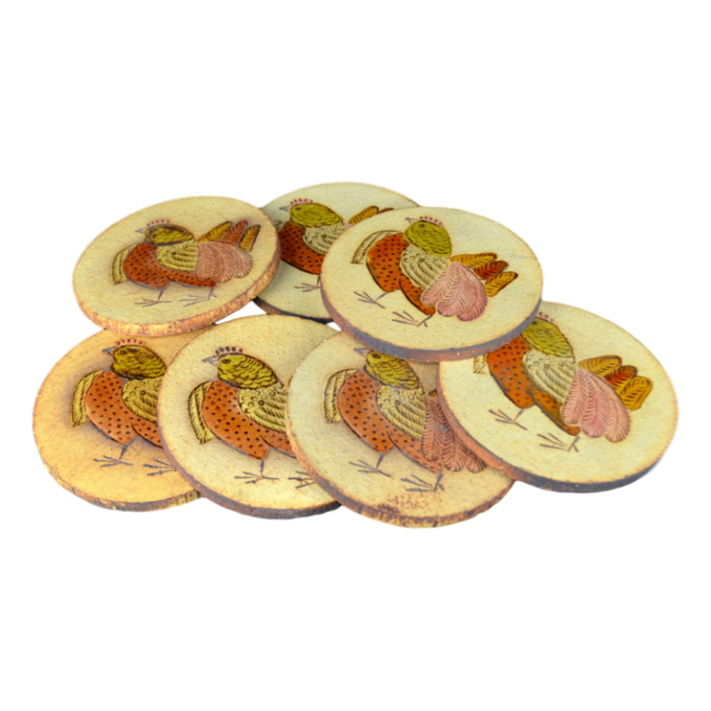 Ceramic Hen Coasters By Roger Capron (14)
