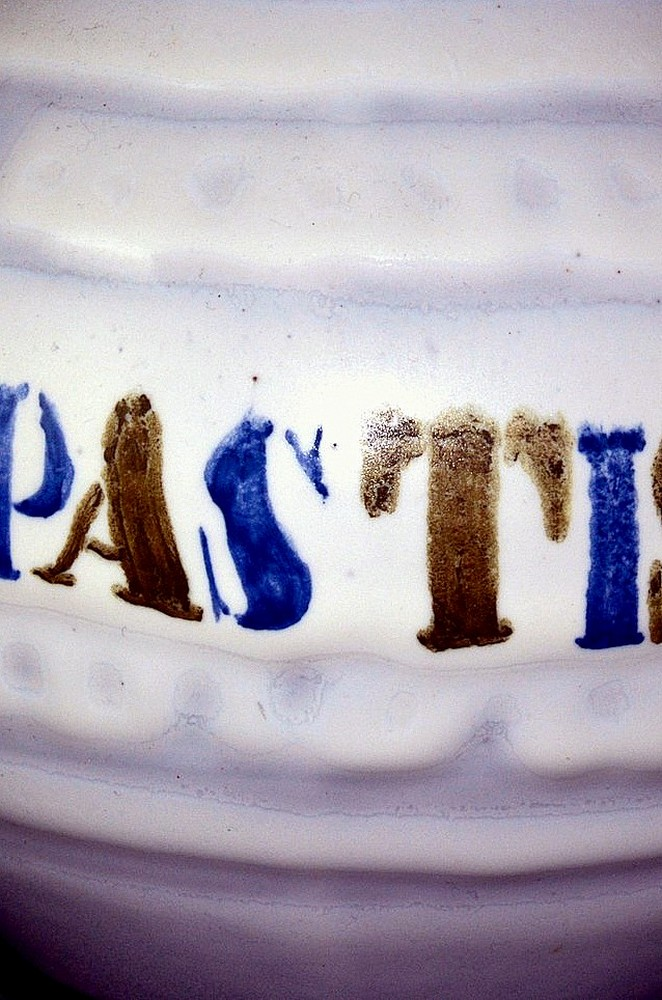 Ceramic Pastis Decanter By Roger Capron Closeup