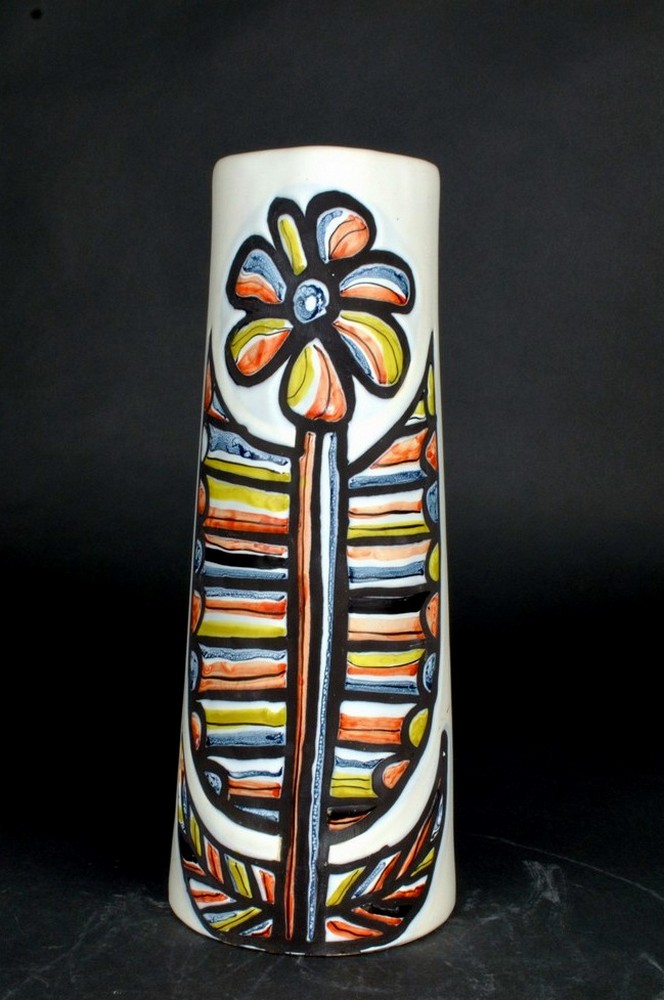Ceramic Pitcher With Flower By Roger Capron 3