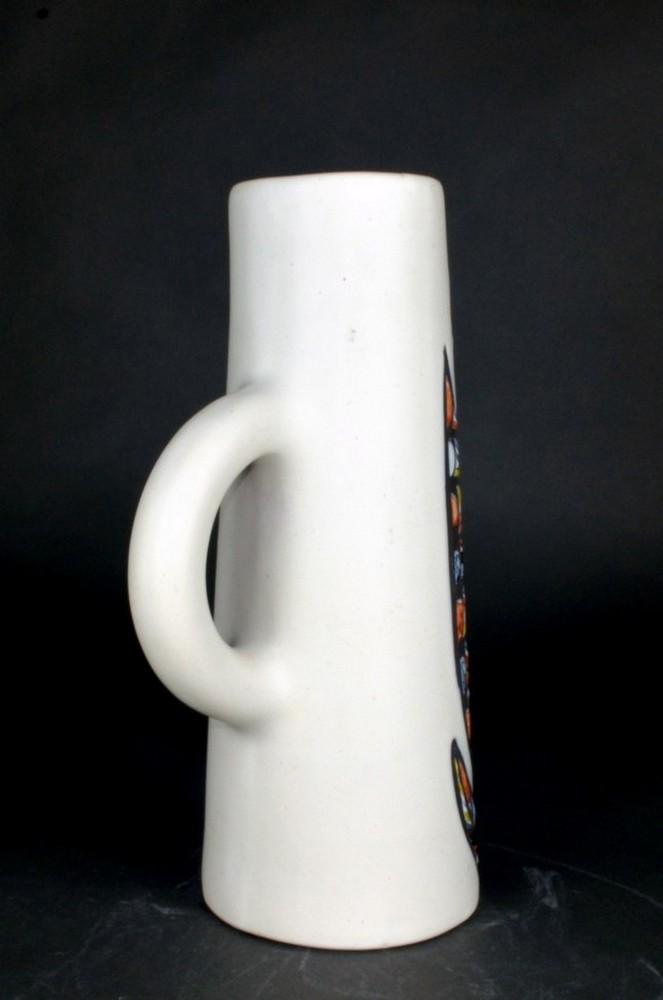 Ceramic Pitcher With Flower By Roger Capron 5
