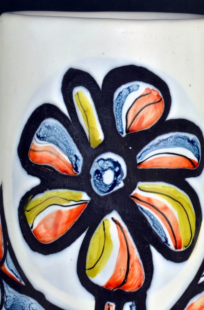 Ceramic Pitcher With Flower By Roger Capron 7