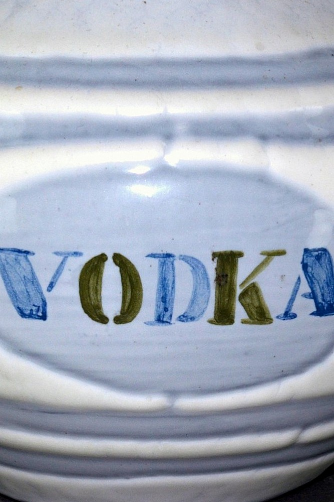 Ceramic Vodka Decanter By Roger Capron Closeup
