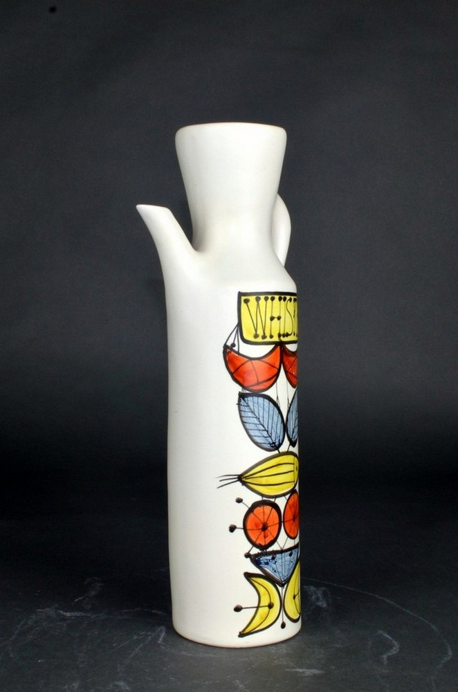 Colorful Ceramic Flask 'whisky' By Roger Capron 2