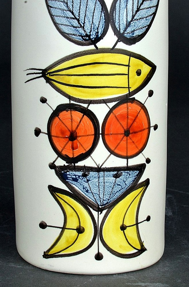 Colorful Ceramic Flask 'whisky' By Roger Capron 5