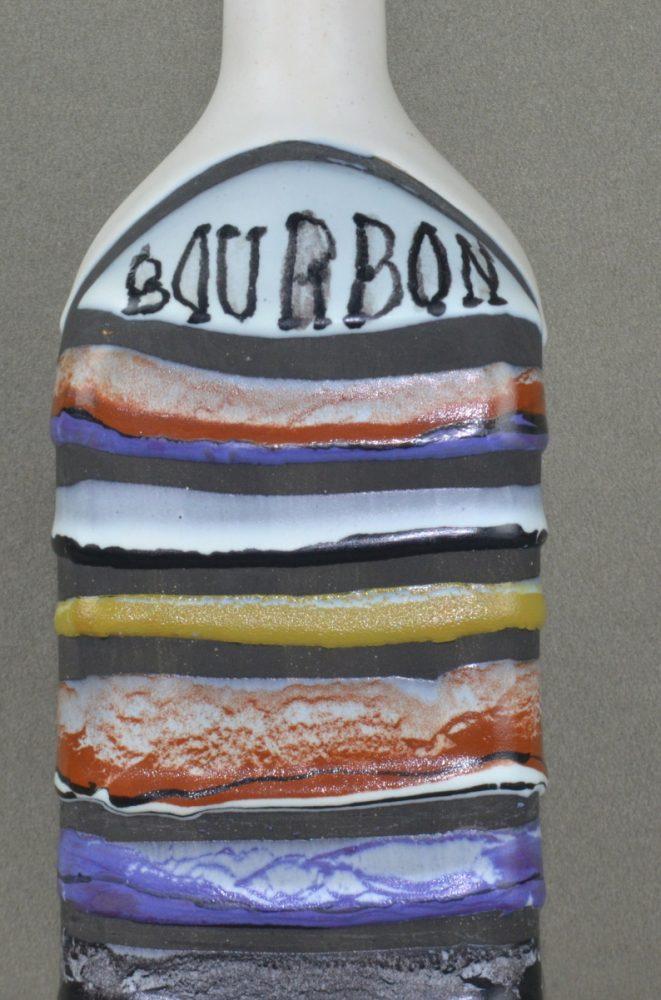 Decorative Ceramic Bottle 'bourbon' By Roger Capron 21