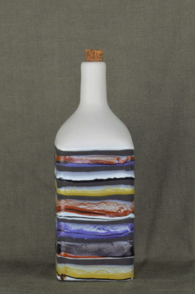 Decorative Ceramic Bottle 'bourbon' By Roger Capron 223