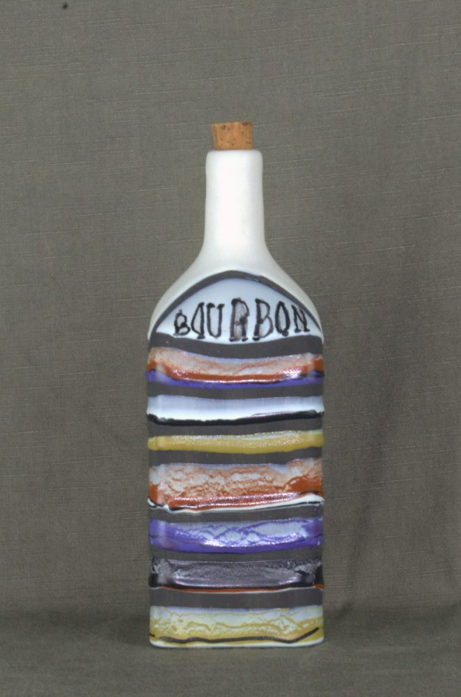 Decorative Ceramic Bottle 'bourbon' By Roger Capron 23