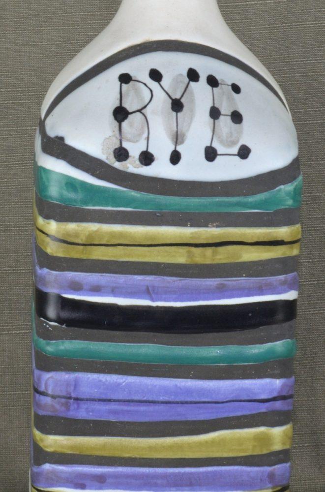 Decorative Ceramic Bottle 'rye' By Roger Capron 21