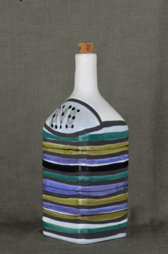 Decorative Ceramic Bottle 'rye' By Roger Capron 23