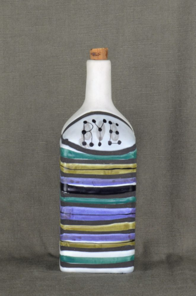 Decorative Ceramic Bottle 'rye' By Roger Capron 24