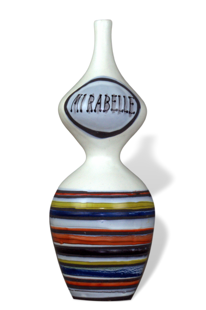 Decorative Ceramic Carafe 'mirabelle' By Roger Capron