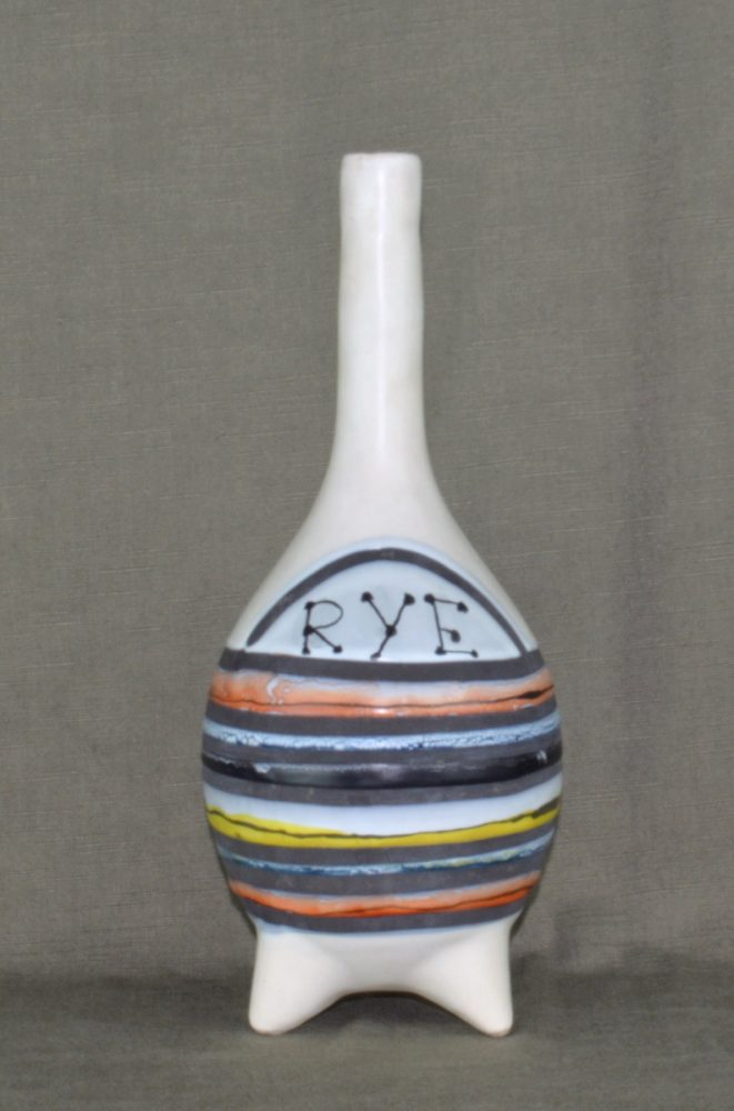 Decorative Ceramic Flask 'rye' By Roger Capron 1