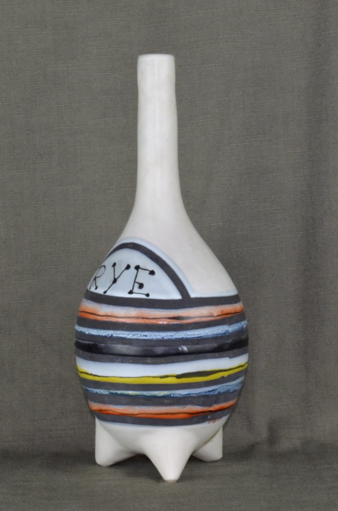 Decorative Ceramic Flask 'rye' By Roger Capron 24
