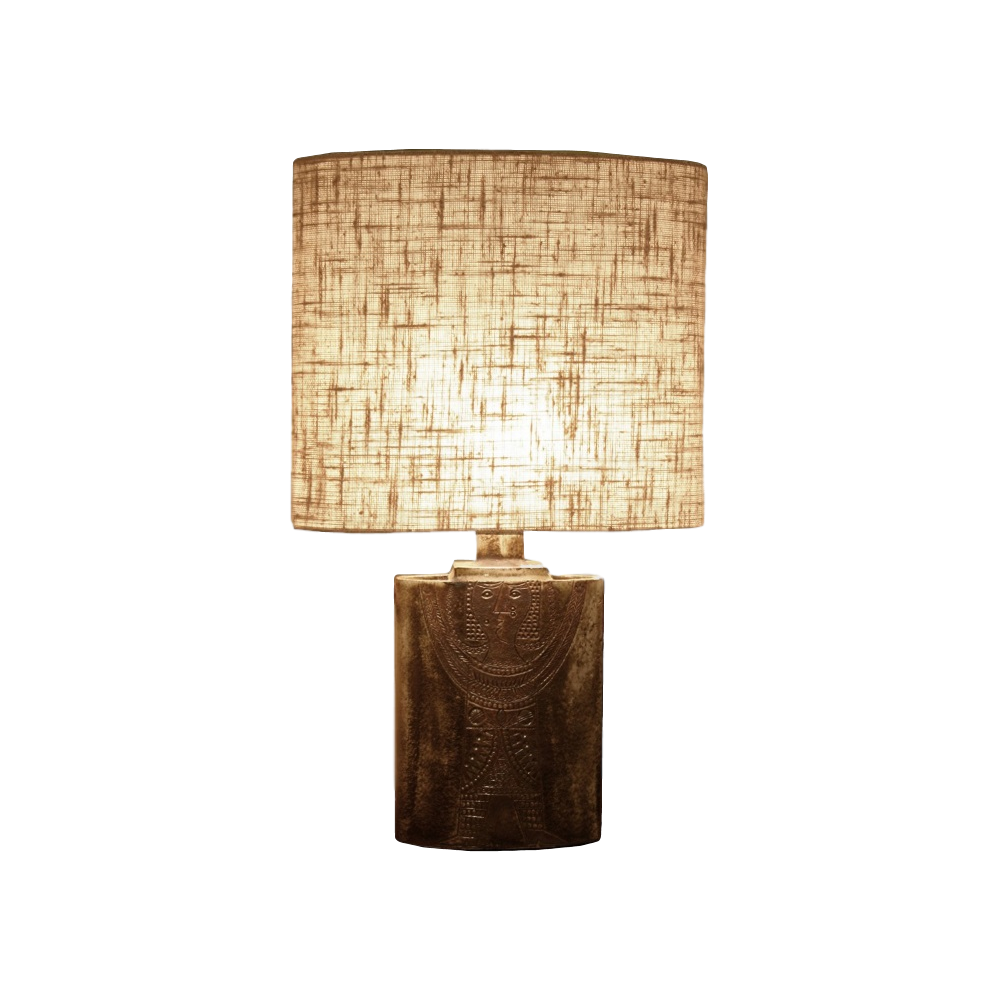 Oval Glazed Table Lamp By Roger Capron 2