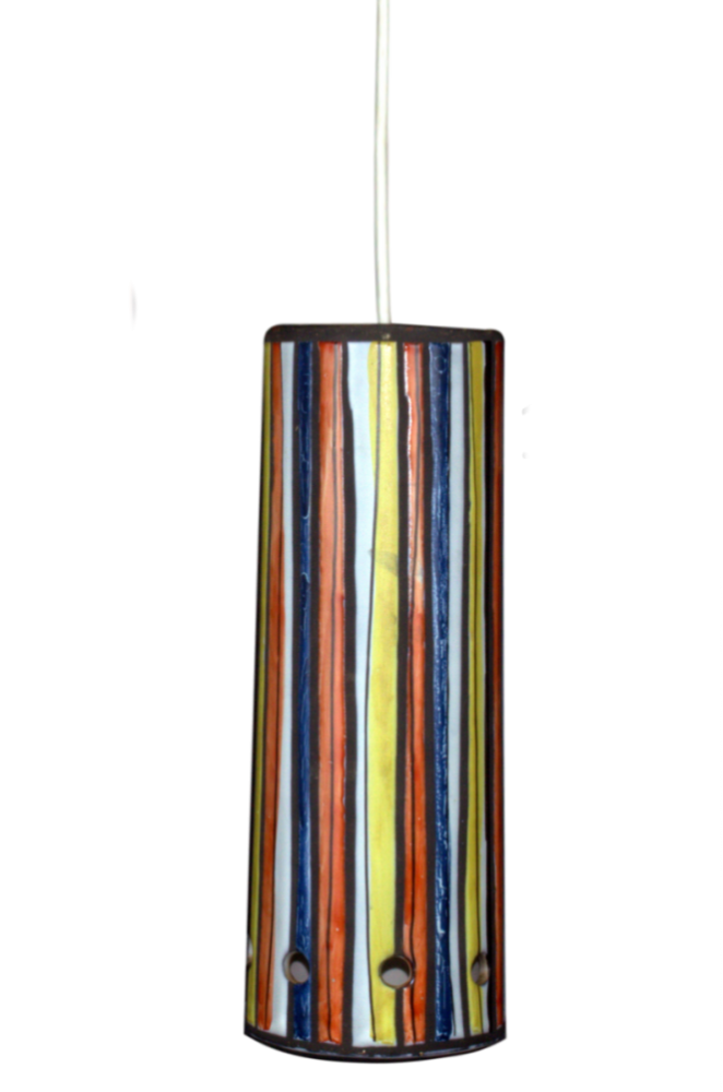 Roger Capron Ceramic Ceiling Lamp With Stripes 2