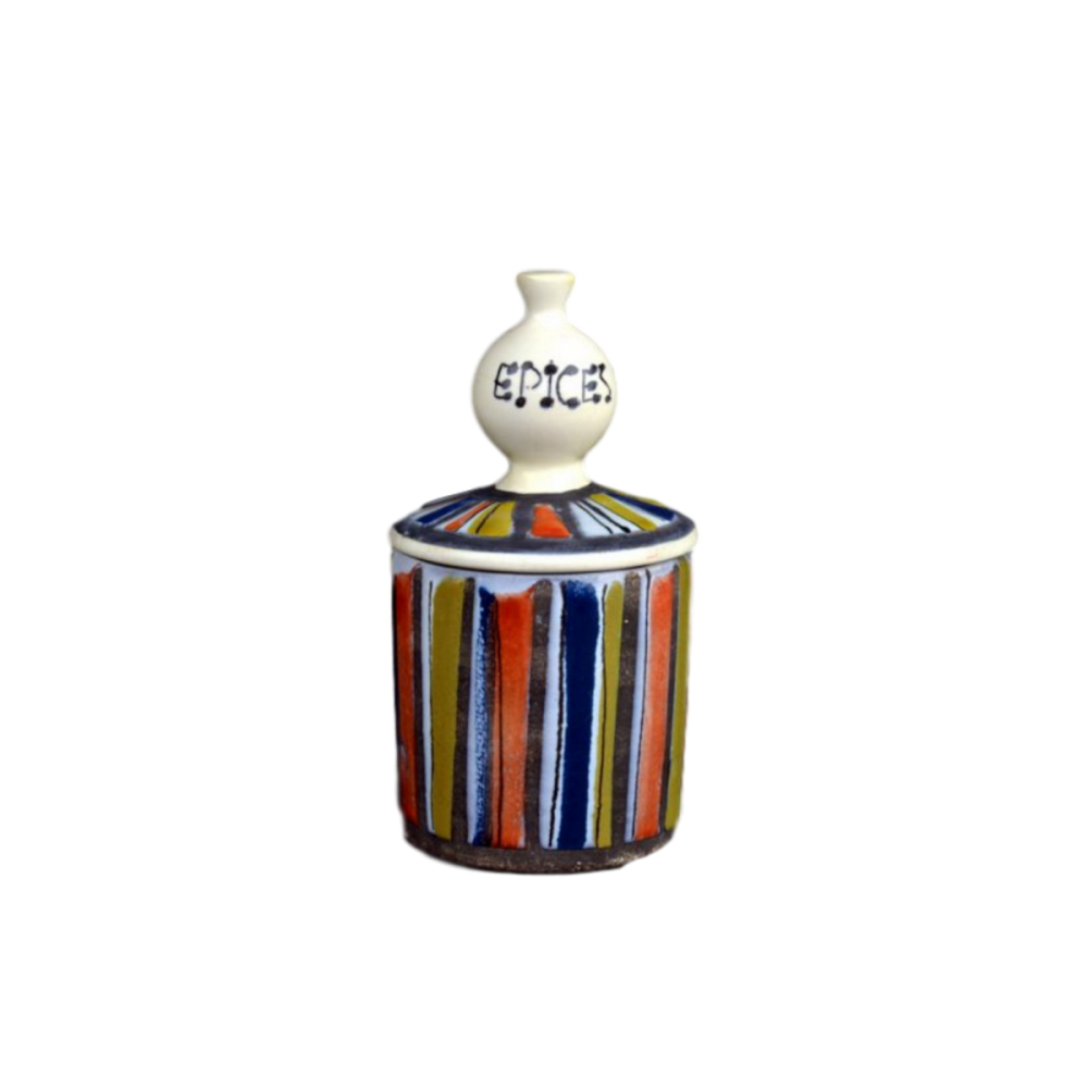 Roger Capron Ceramic Container For Spices