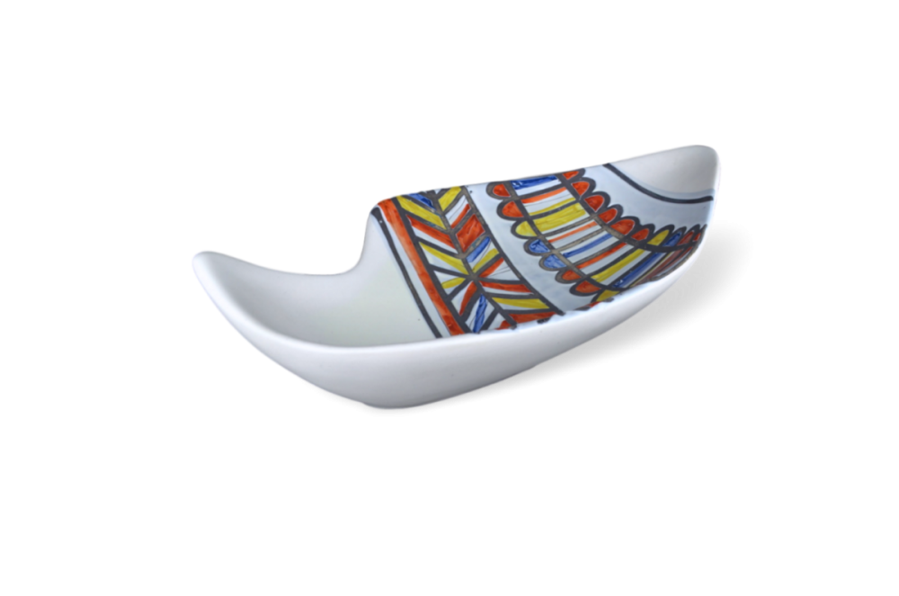 Roger Capron Ceramic Dish With Banded Design