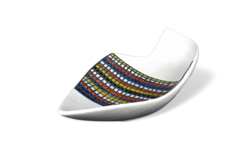 Roger Capron Ceramic Dish With Stripes ('rayures')