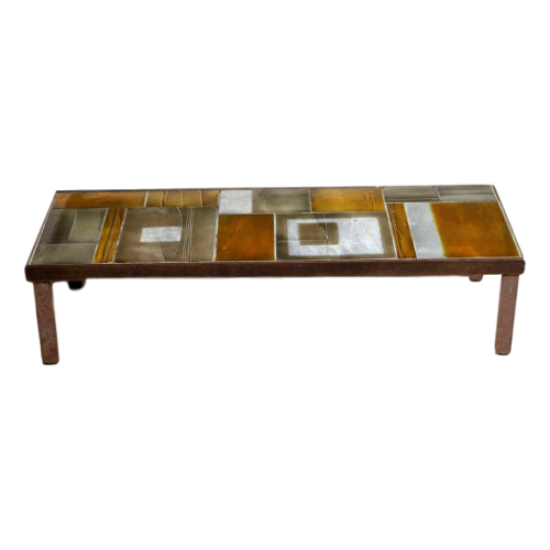 Roger Capron Coffee Table With Lava Tiles