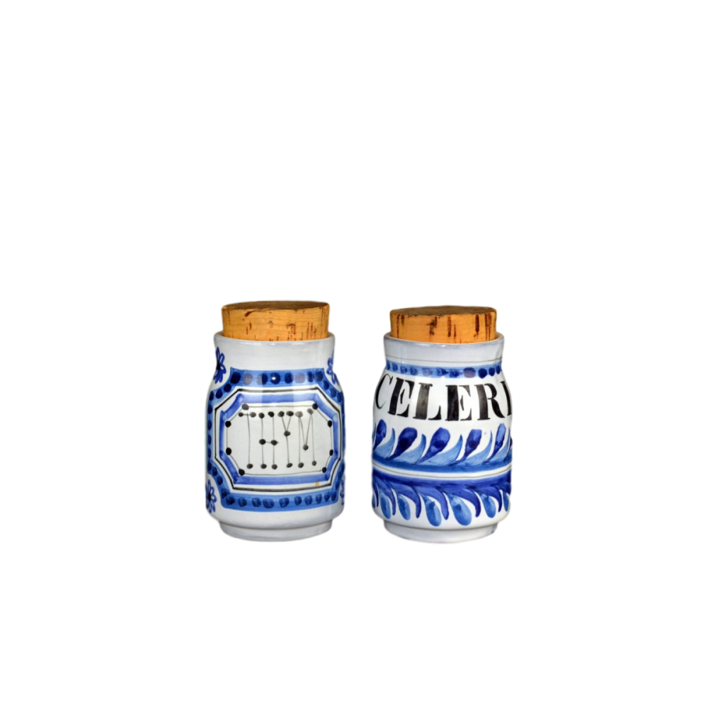 Roger Capron Small Ceramic Jars For Celery And Thyme