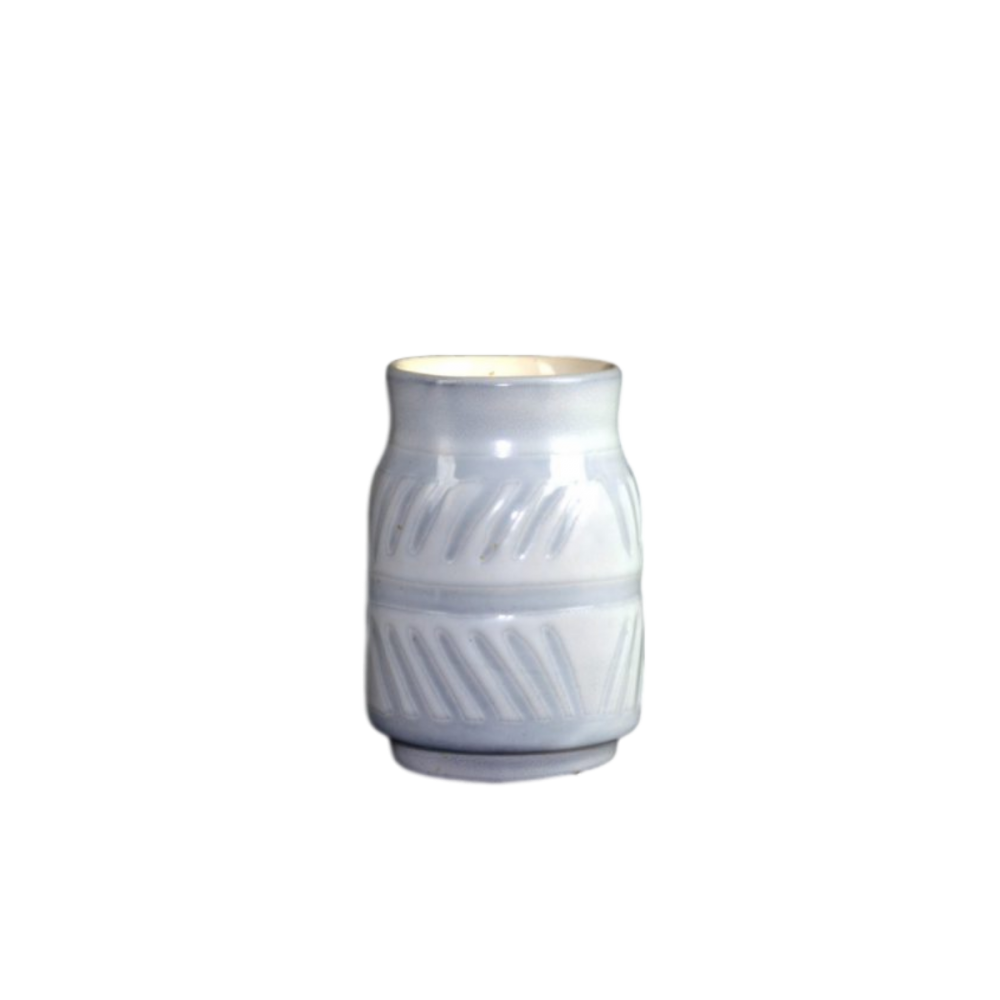 Roger Capron White And Grey Ceramic Jar