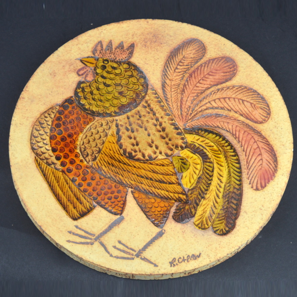 Rooster Trivets By Roger Capron (5)