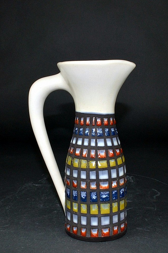 Small Ceramic Carafe With Cobblestones By Roger Capron 3