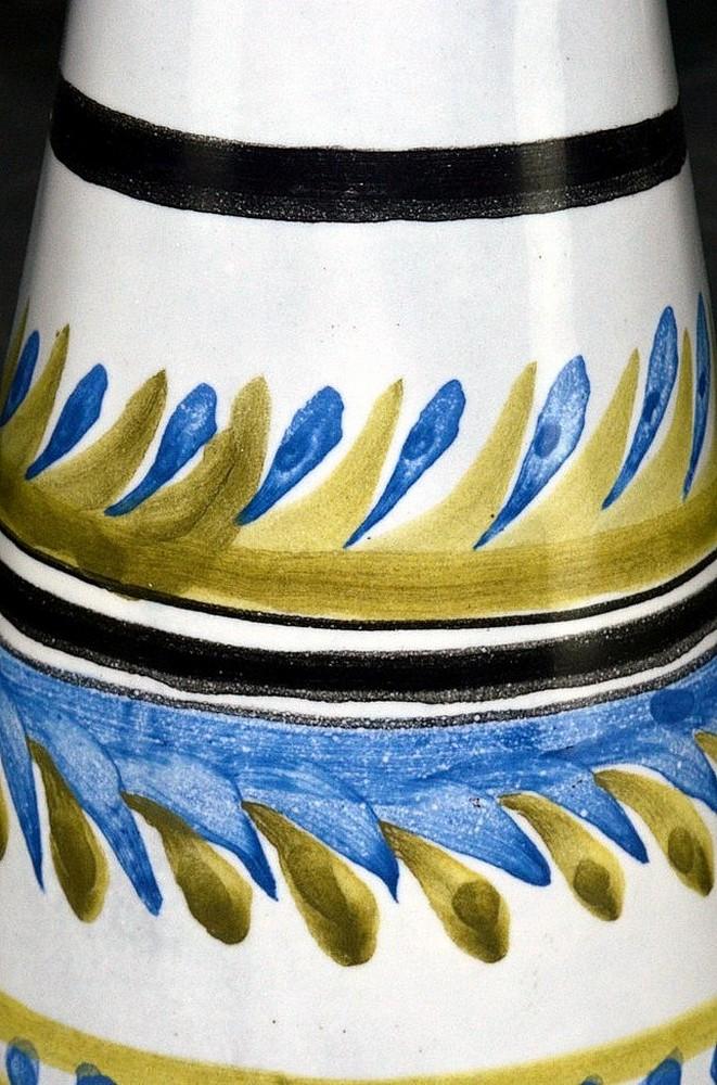 Small Ceramic Decanter 'v' By Roger Capron Closeup