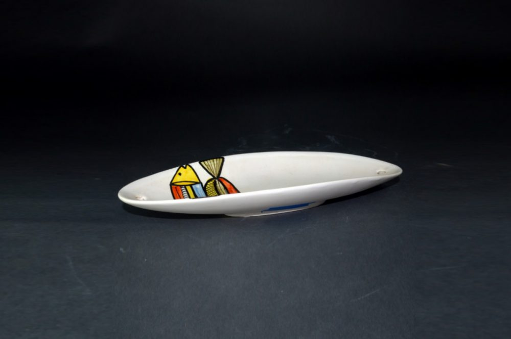 Small Ceramic Dish With 2 Fish By Roger Capron 22