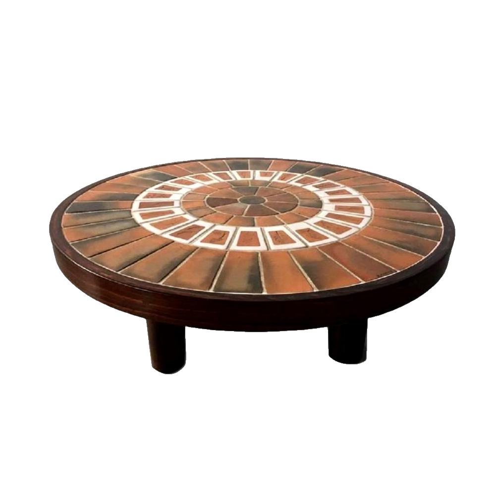 Vintage Ceramic Coffee Table By Roger Capron (3)