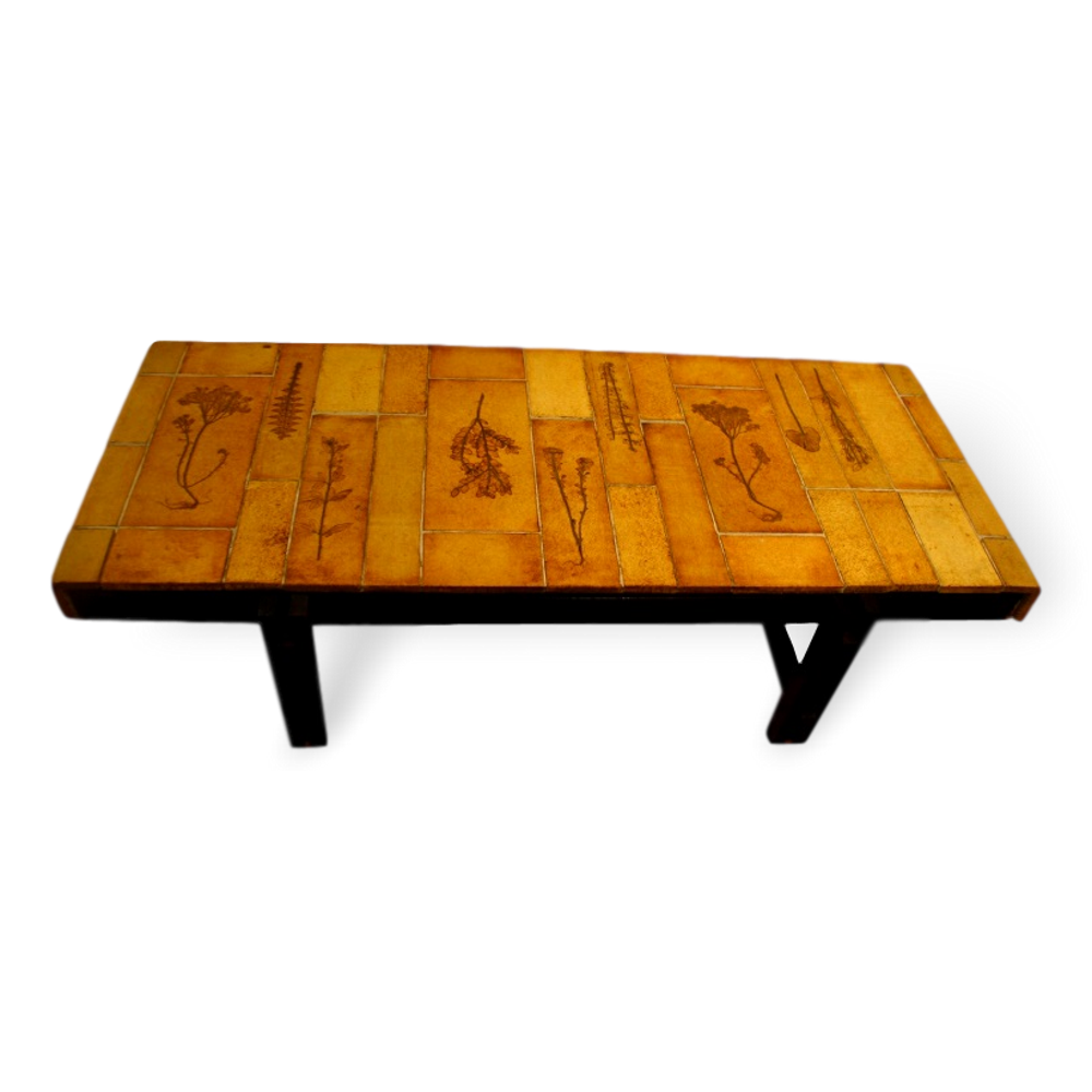 Vintage Ceramic Coffee Table By Roger Capron (4)