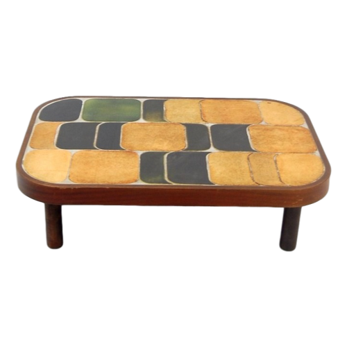 Vintage Ceramic Coffee Table By Roger Capron1