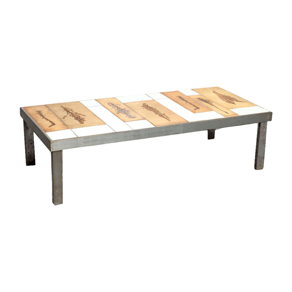 Vintage Ceramic Coffee Table By Roger Capron3
