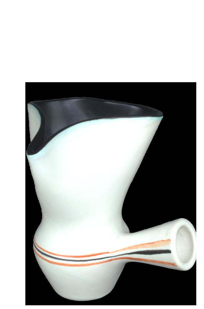 White Glazed Ceramic Pot By Roger Capron